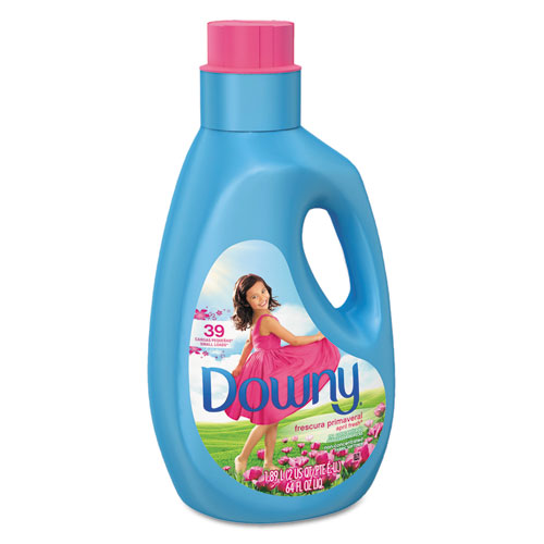 Liquid Fabric Softener, April Fresh, 64 oz Bottle, 8/Carton
