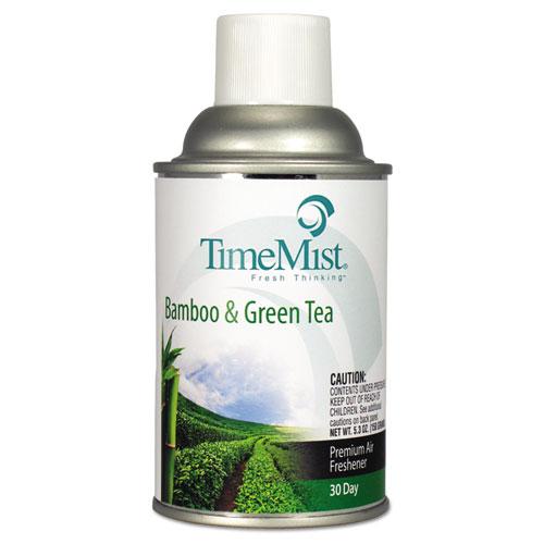 Premium Metered Air Freshener Refill, Bamboo/Green Tea, 6.6 oz Aerosol, 12/Carton | by Plexsupply