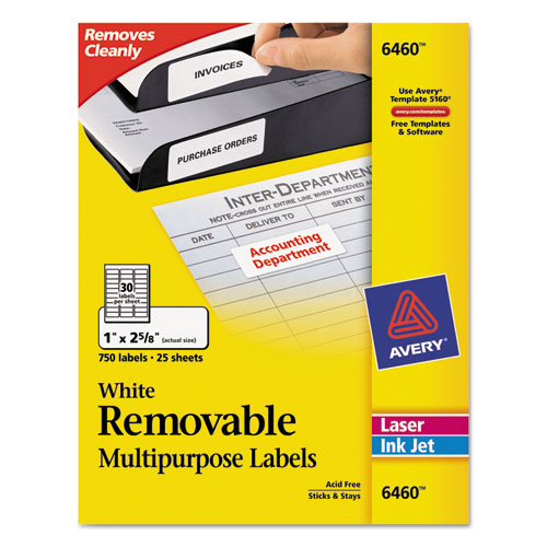 Superwarehouse avery dennison id labels avery 6460 for Dennison labels templates