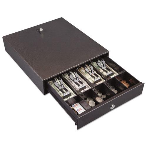 Hercules Cash Drawer, Two Keys, 13 x 14 1/2, Charcoal Gray