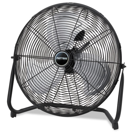 High Velocity Fan, Three-Speed, Black, 24 1/2W x 8 5/8H