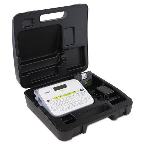 PTD400VP Versatile, Easy-to-Use Label Maker with Carry Case and Adapter, 7.5w x 7d x 2.88h