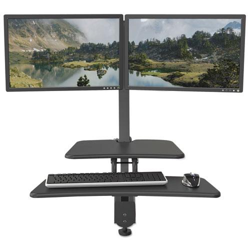 BALT® Up-Rite Desk Mounted Sit-Stand Workstation, Single, 27 1/8 x 30 x 42, Dark Gray