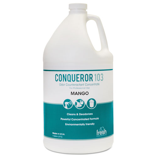 Conqueror 103 Odor Counteractant Concentrate, Mango, 1 gal Bottle, 4/Carton