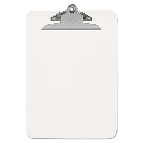 Plastic Clipboard with High Capacity Clip, 1 Capacity, Holds 8 1/2 x 11, Clear