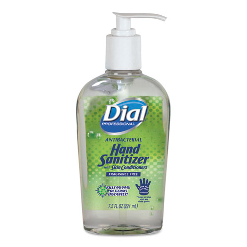Dial Antibacterial with Moisturizers Gel Hand Sanitizer, 7.5 oz, Pump