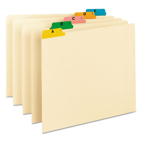 Recycled Top Tab File Guides, Alpha, 1/5 Tab, Manila, Letter, 25/Set | by Plexsupply