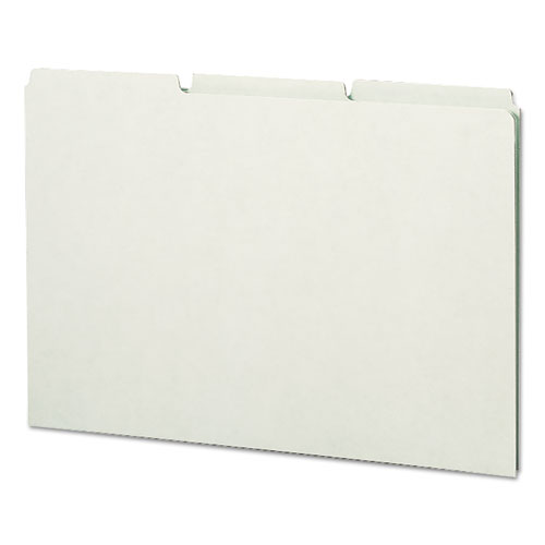 Recycled Tab File Guides, Blank, 1/3 Tab, Pressboard, Legal, 50/Box | by Plexsupply