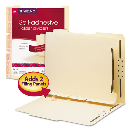 Smd68025 Smead Manila Self Adhesive Folder Dividers W 2