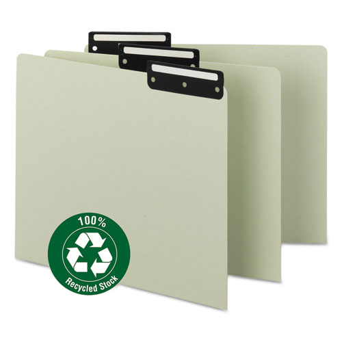 Recycled Tab File Guides, Blank, 1/3 Tab, Pressboard, Letter, 50/Box | by Plexsupply