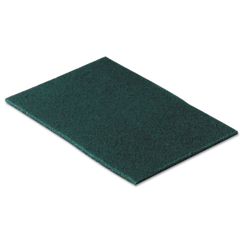 Commercial Scouring Pad, 6 x 9, 10/Pack | by Plexsupply