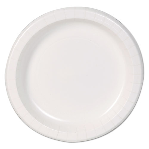 "Basic Paper Dinnerware, Plates, White, 8.5"" Diameter, 125/Pack | by Plexsupply"