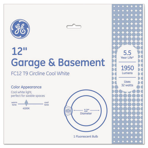 GE Garage & Basement T9 Circline Fluorescent Bulb, 32 W