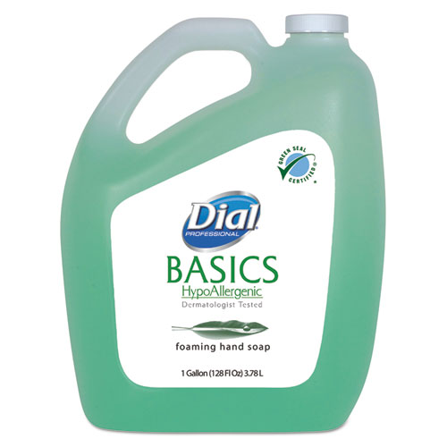 Dial® Professional Basics Foaming Hand Soap, Original, Honeysuckle, 1 gal Bottle
