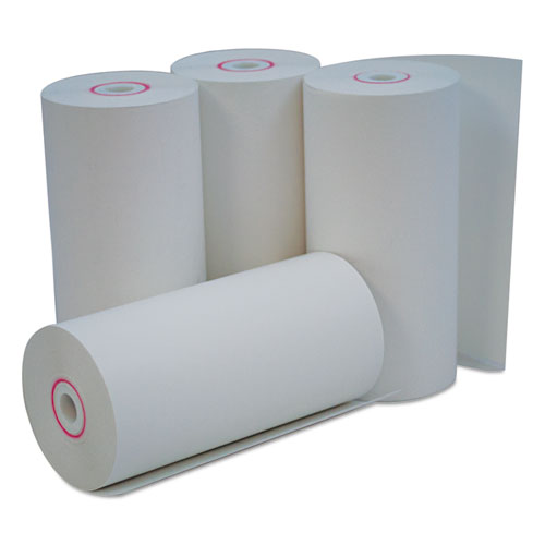 Direct Thermal Print Paper Rolls, 0.38 Core, 4.38 x 127ft, White, 50/Carton