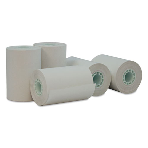 "Deluxe Direct Thermal Print Paper Rolls, 0.5"" Core, 2.25"" x 55 ft, White, 50/Carton 