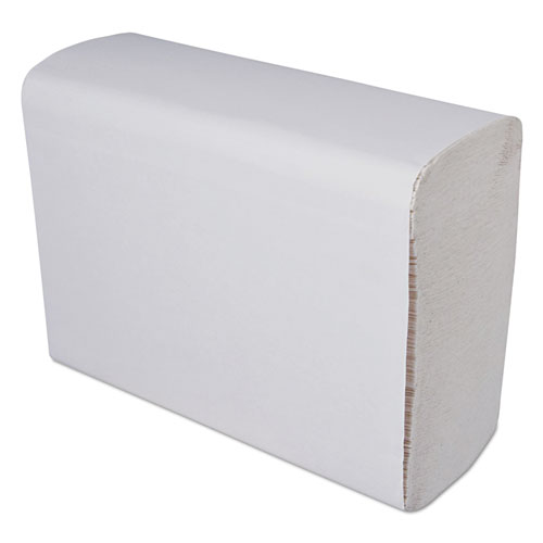 Multi-Fold Paper Towels, 1-Ply, White, 9 1/4 x 9 1/4, 250 Towels/Pack, 16 Packs/Carton
