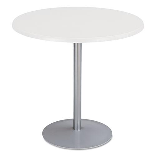"Entourage Table Base, 18"" Dia. x 29h, Silver | by Plexsupply"