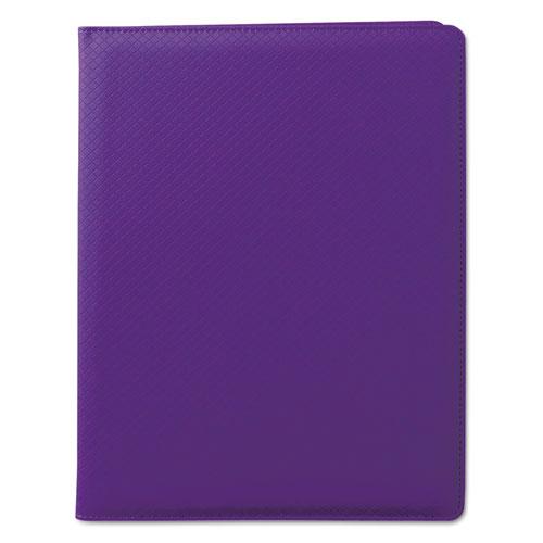 Fashion Padfolio, 8 1/2 x 11, Purple PVC