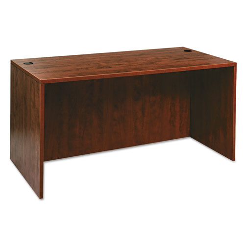 Alera Valencia Series Straight Front Desk Shell, 59.13 x 29.5 x 29.63, Medium Cherry