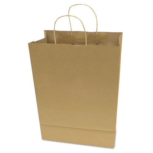 "Premium Shopping Bag, 10"" x 13"", Brown Kraft, 50/Box"