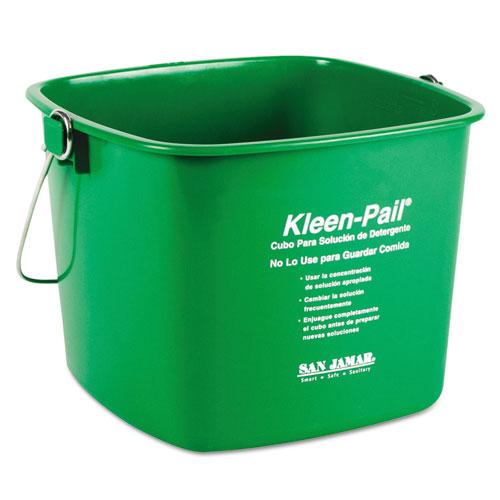 Kleen-Pail, 6qt, Plastic, Green, 12/Carton | by Plexsupply