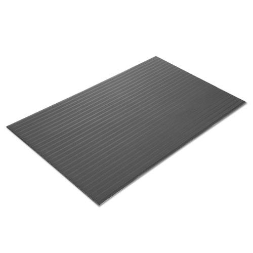 Crown Tuff-Spun Foot Lover Anti-Fatigue Rib Mat, PVC, 36 x 144, Black