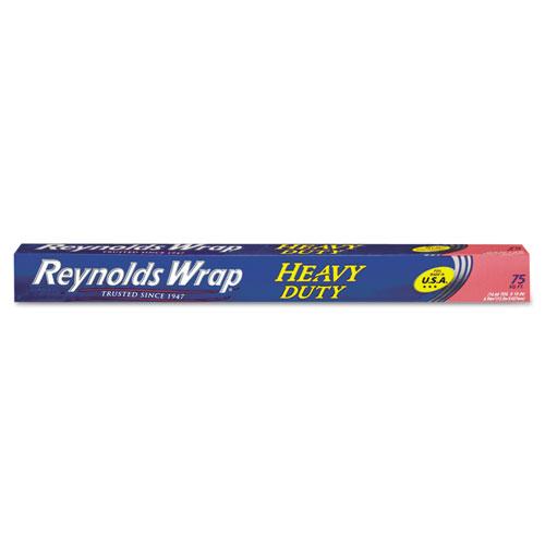 Heavy Duty Aluminum Foil Roll, 18 x 75 ft, Silver