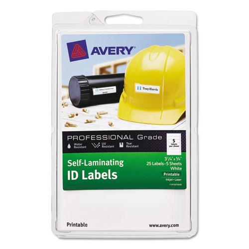 avery self laminating id labels laser inkjet 4 x 6 sheet 3 4 x 3