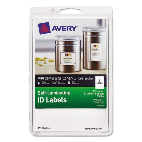 avery self laminating id label laser inkjet 4 x 6 sheet 2 1 4 x