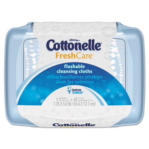 Cottonelle® Fresh Care Flushable Cleansing Cloths, White, 3.75 x 5.5, 42/Pack, 8 Packs/CT