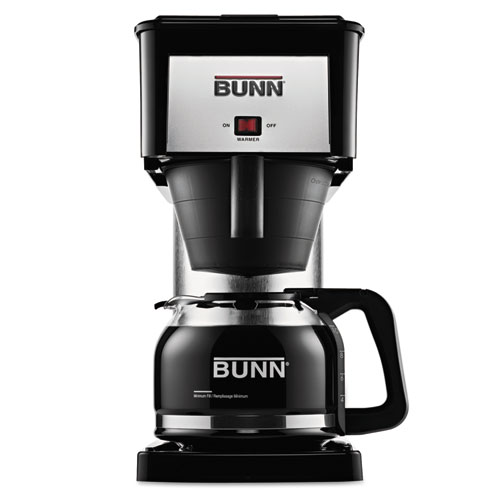 BUNN® 10-Cup Velocity Brew BX Coffee Brewer, Black, Stainless Steel