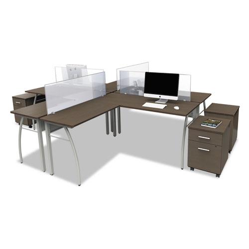 Littr737moc Linea Italia 174 Trento Line L Shaped Desk Zuma