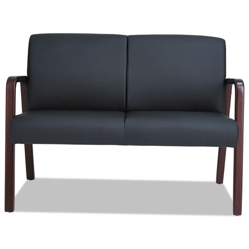Alera Reception Lounge Series Wood Loveseat 44 7 8 X 26 1