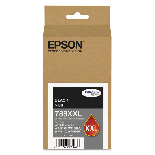 T788XXL120 (788XXL) DURABrite Ultra XL PRO High-Yield Ink, Black T788XXL120