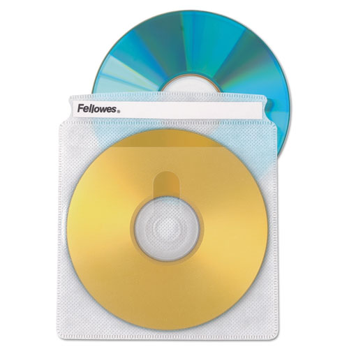 Two-Sided CD/DVD Sleeve Refills for Softworks File, 25/Pack | by Plexsupply