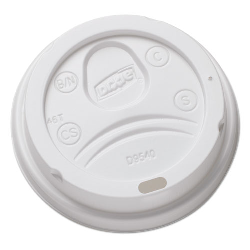 Sip-Through Dome Hot Drink Lids for 10 oz Cups, White, 100/Pack, 1000/Carton DL9540CT