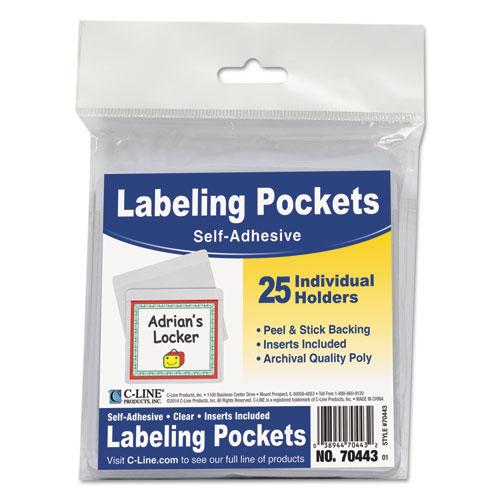 Cli70443 C Line Self Adhesive Labeling Pockets Zuma