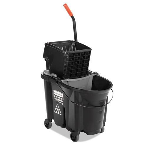 WaveBrake Side-Press Wringer/Bucket Combo, 35 Qt, Black