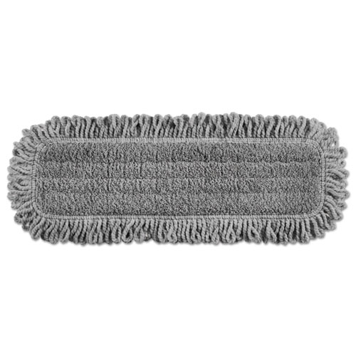 Pulse Executive Single-Sided Microfiber Dust Mop Head, 18, Light Gray