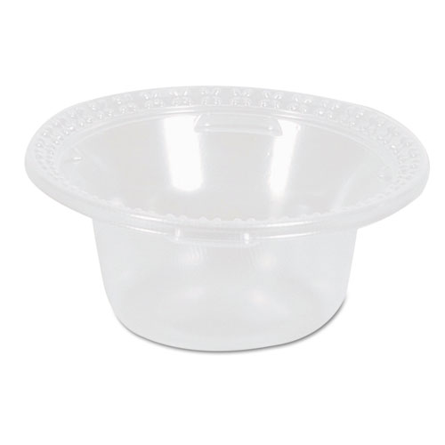 Plastic Dessert Dishes, Clear, 5oz, 100/Pack, 10/Carton DD05C