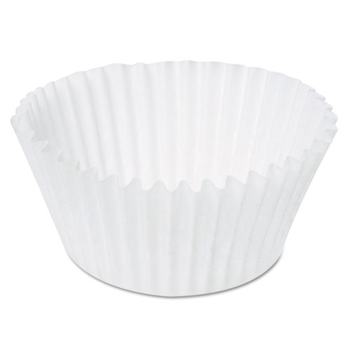 Paper Fluted Baking Cups, Dry-Waxed, 4-1/2, White, 20/Pack, 500 Packs/Carton 15CX