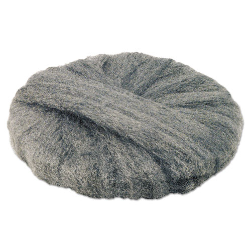 Radial Steel Wool Pads, Grade 2 (Coarse): Stripping/Scrubbing, 19, Gray, 12/CT