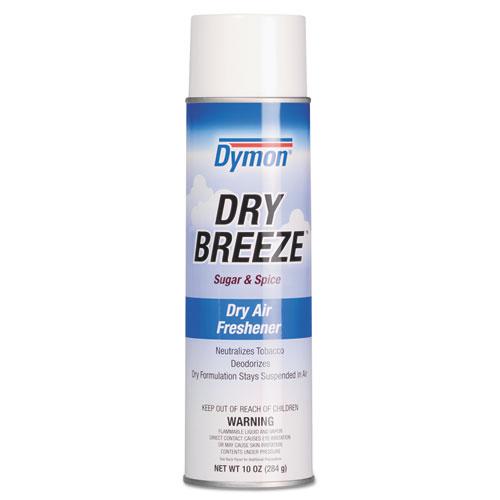 Dymon® Dry Breeze Aerosol Air Freshener, Sugar & Spice, 10oz, 12/Carton