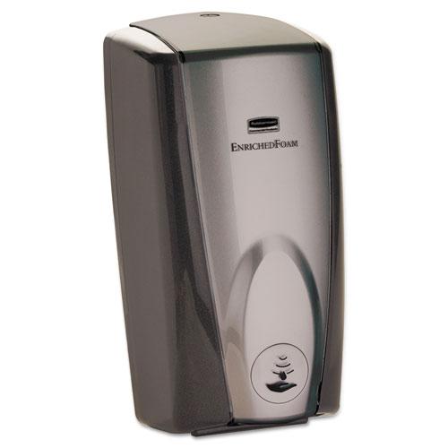 Rubbermaid® Commercial AutoFoam Touch-Free Dispenser, 1100mL, Black/Gray Pearl