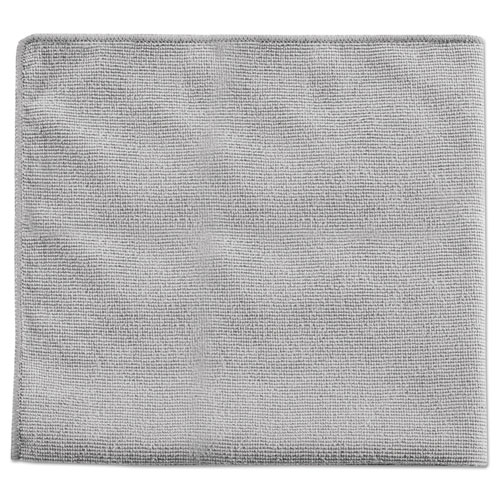 Rubbermaid® Commercial Executive Multi-Purpose Microfiber Cloths, Gray, 16 x 16, 24/Pack RCP1863889