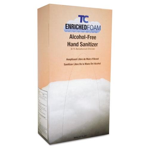 Rubbermaid® Commercial Manual Foam Alcohol-Free Hand Sanitizer Refill, Fresh Citrus, 800mL, 6/Carton