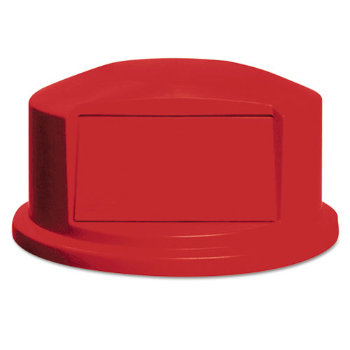 Round BRUTE Dome Top with Push Door, 24.81w x 12.63h, Red