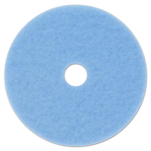 "3M™ Hi-Performance Burnish Pad 3050, 20"" Diameter, Sky Blue, 5/Carton"