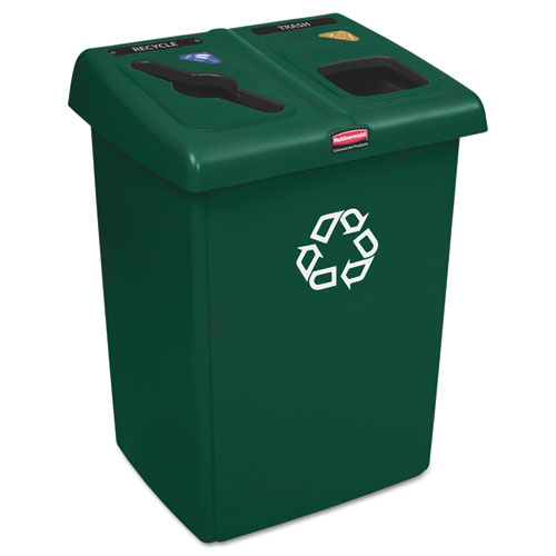 Glutton Recycling Station, Two-Stream, 46 gal, Green